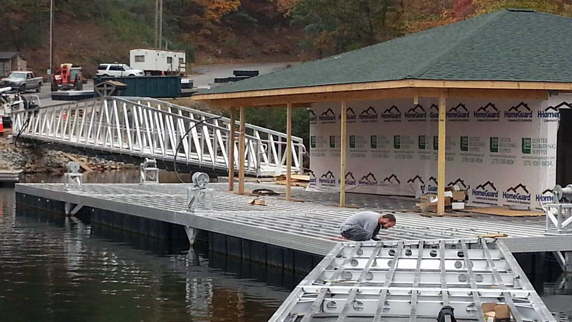 aluminum marina dock construction X-9