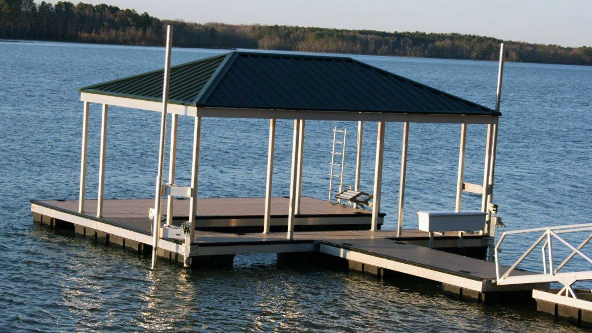 aluminum dock hip roof X-9