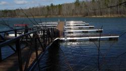 aluminum dock no roof powdercoat