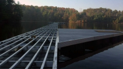 aluminum marina dock construction