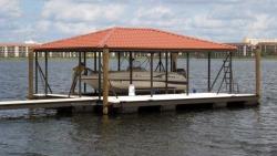 aluminum dock hip roof powdercoat