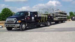 aluminum dock on trailer