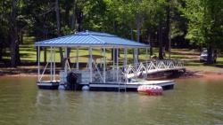 aluminum dock hip roof raised ridge