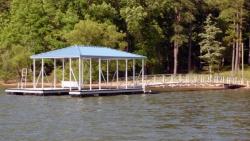 aluminum dock gable roof