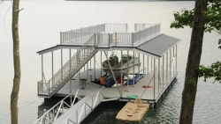 aluminum dock sundeck combo