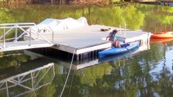 X-9 aluminum dock kayak accessible