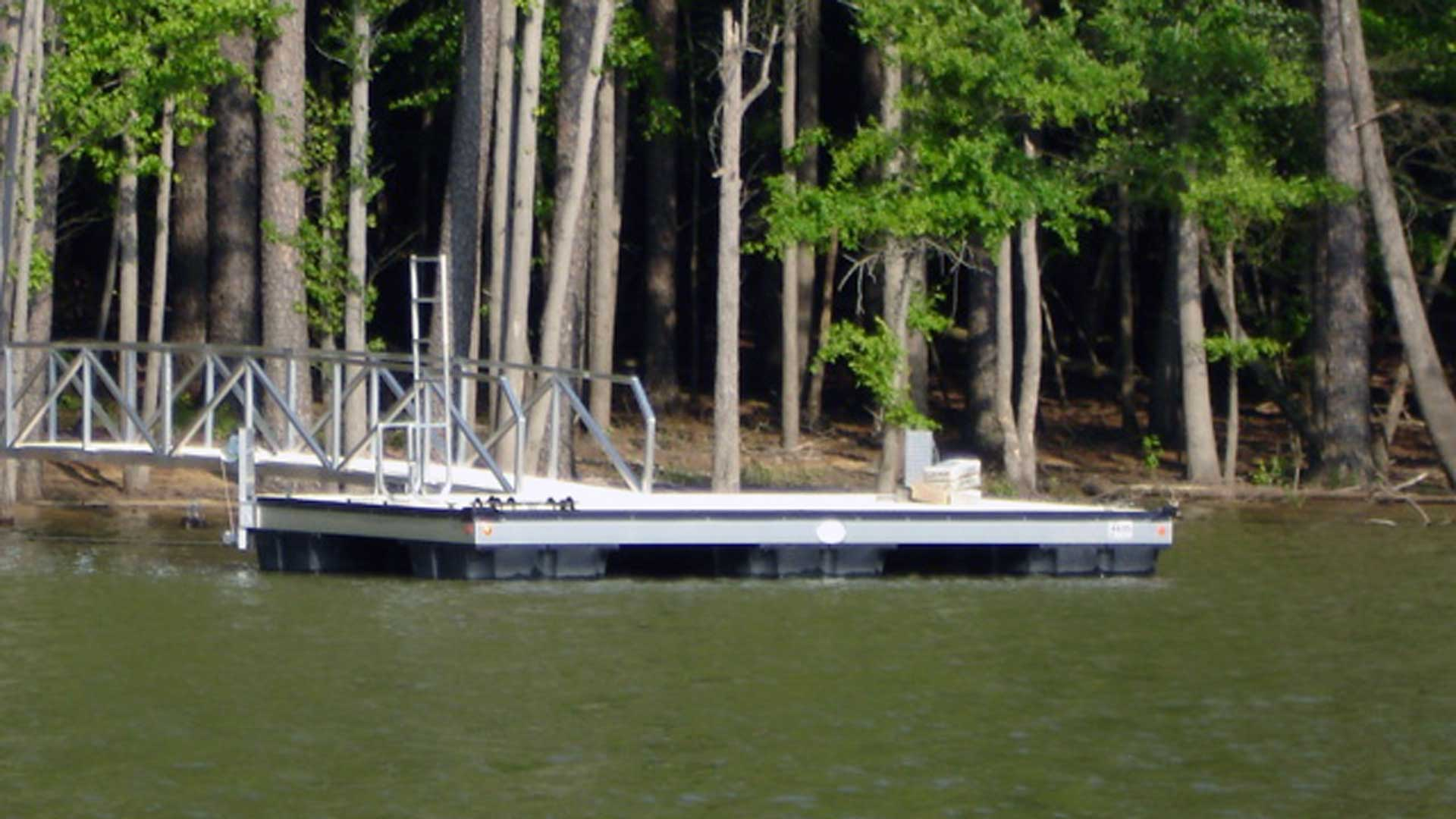 aluminum dock no roof