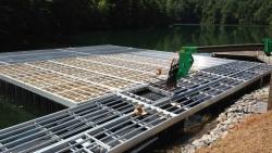 aluminum marina dock construction X-9