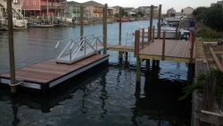 aluminum dock X-9 on canal