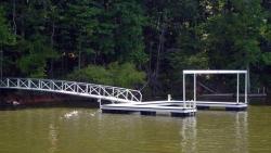 aluminum dock no roof overhead brace