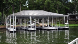 aluminum dock hip roof double slip
