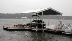 X-9 aluminum dock gable roof