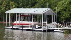 X-9 aluminum dock gable roof solar panel