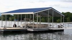 aluminum dock gable roof X-9