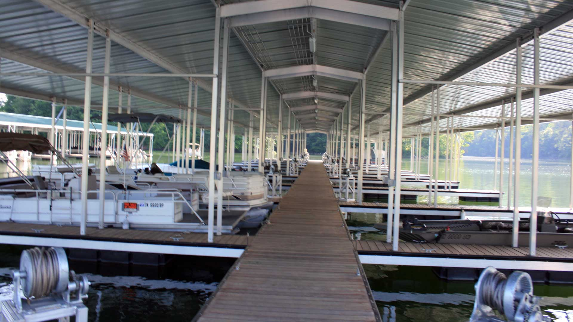 aluminum dock commercial marina gable roof with store
