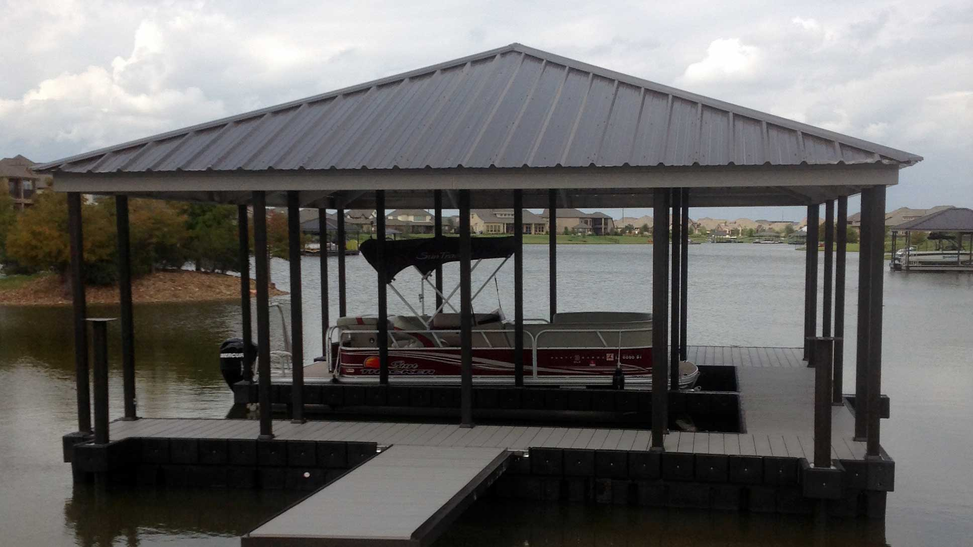 aluminum dock hip roof powdercoat X-9