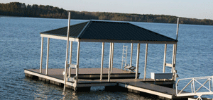 Residential Aluminum Docks by Alumadock Dock Anchoring Systems