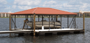 Residential Aluminum Docks by Alumadock Hip Roof
