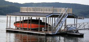 Residential Aluminum Docks by Alumadock Sundeck Combo
