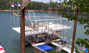 aluminum dock frame roof attachment - Alumadock