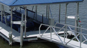 dock anchoring systems telescoping poles