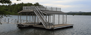 sundeck combo roof dock by alumadock