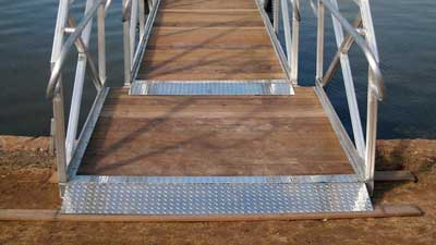 Handicap Ramp on Aluminum Gangway by Alumadock