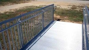 ADA Railing on Aluminum Gangways by Alumadock