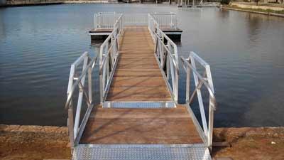 ADA Compliant Aluminum Gangway by Alumadock