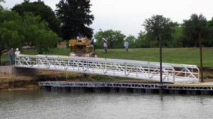 Commercial Gangways and Bridges on commercial docks by Alumadock