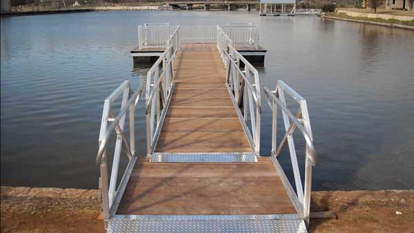 Aluminum Dock ADA Handicap Accessible Fishing Platform by Alumadock