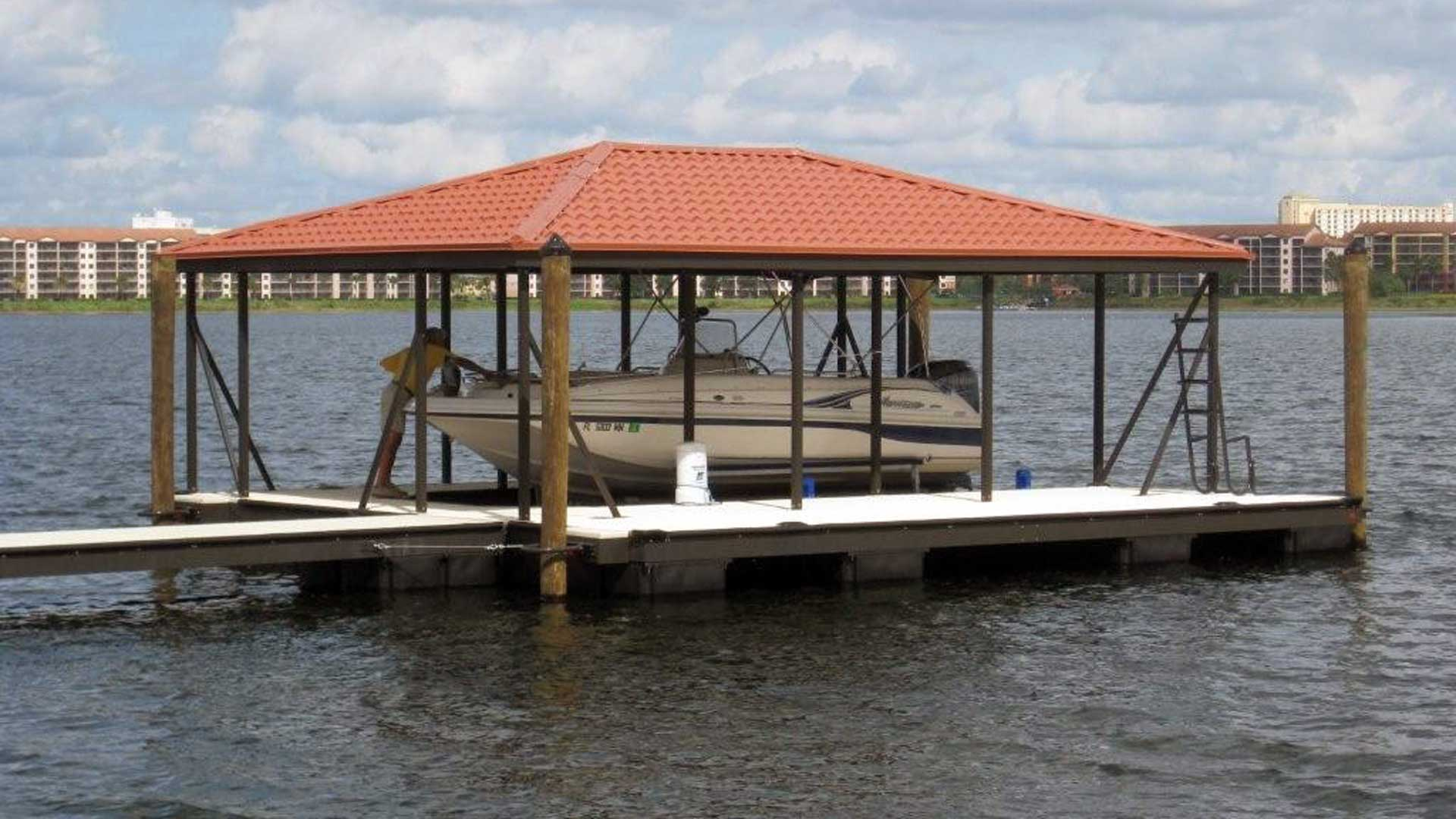 Aluminum Dock Hip Roof with Powder coat