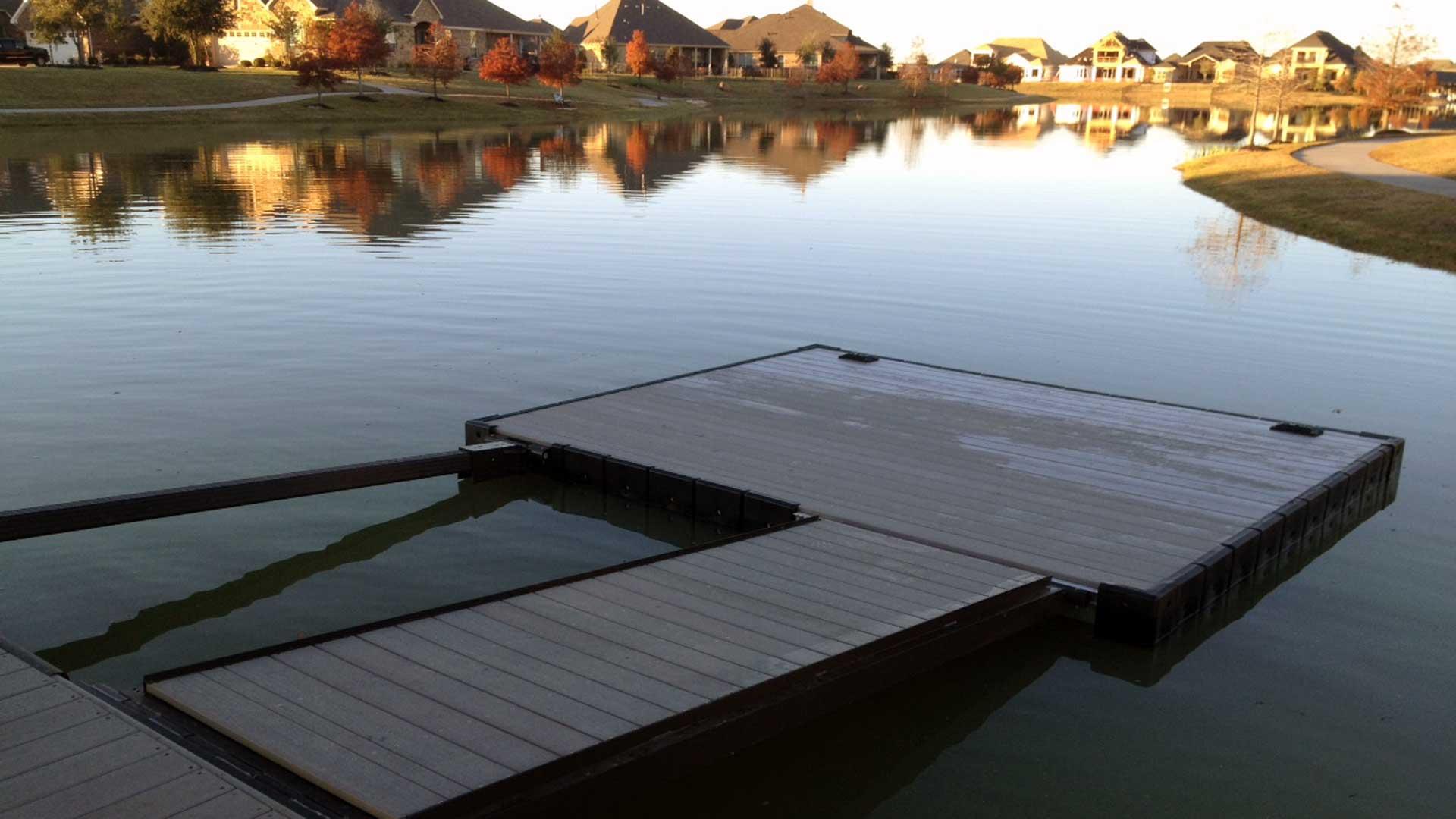 Aluminum dock for Kayaks