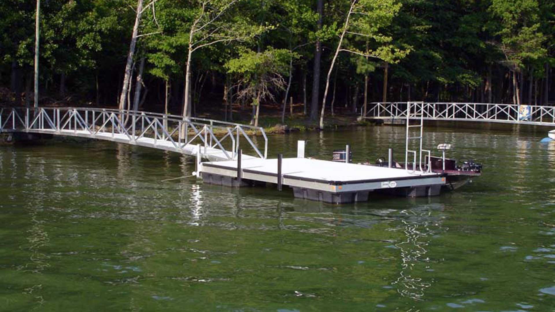 aluminum dock no roof