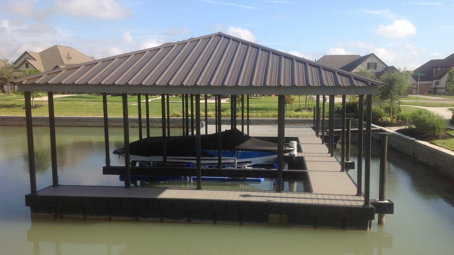 aluminum dock hip roof powdercoat X-9